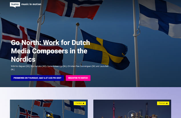 Buma Cultuur - Go North: Work for Dutch media Composers in the Nordics